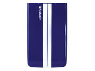 GT SUPERSPEED PORTABLE 500GB USB 3.0 BLUE/WHITE 53085 VERBATIM