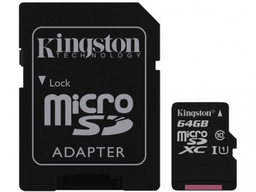 MICRO SDXC 64GB CLASE 10 UHS-I + ADAPTADOR (SDC10G2/64GB) KINGSTON