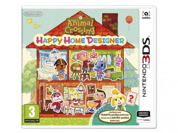 JUEGO 3DS ANIMAL CROSSING HAPPY HOME DESIGNER + TARJETA AMIIBO 2230081 NINTENDO
