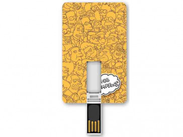 PENDRIVE ICONICCARD SIMPSONS LOGO 8GB SILVER HT