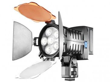 ANTORCHA VIDEO PRO LED + ACCESORIOS WALIMEX
