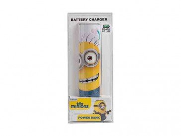 POWERBANK 2600 1 IN A MINION SILVER HT