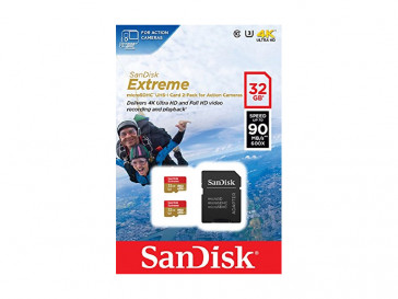 PACK 2 MICRO SDHC 32GB EXTREME (SDSQXNE-032G-GN6AT) SANDISK