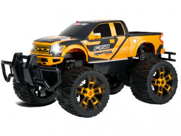 RC 2.4GHZ 1:16 FORD F-150 SVT RAPTOR CON LUCES AMARILLO CARRERA