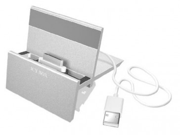 ICY BOX IB-i003 + SOPORTE PARA IPHONE/IPAD PLATA RAIDSONIC