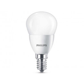 BOMBILLA LED ESFERICA E14 5.5W (40W) LUZ BLANCA CALIDA PHILIPS